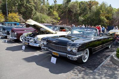 (R-L) 1960 Cadillac Eldorado Biarritz,1953 Caddilac Eldorado