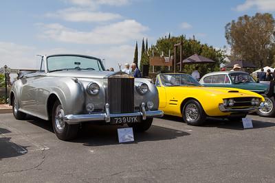 (L-R) 1960 Rolls Royce Silver Cloud II Drophead Coupe, 1968 Ghia 450 SS