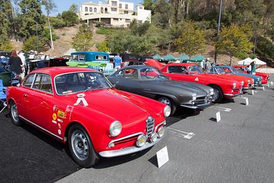 Alfa Romeos - (L-R) 1956 Sprint Veloce Lightweight,1965 Guilia Sprint Speciale,1956 1900 CSS
