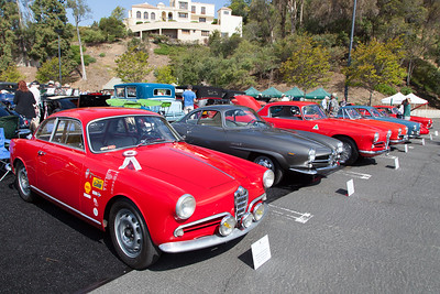 Alfa Romeos - (L-R) 1956 Sprint Veloce Lightweight,1965 Guilia Sprint Speciale,1956 1900 CSS