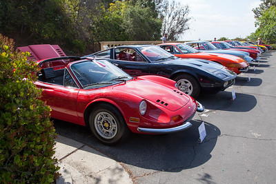 1971 Dino 246 GTS heads the Ferrari line up.