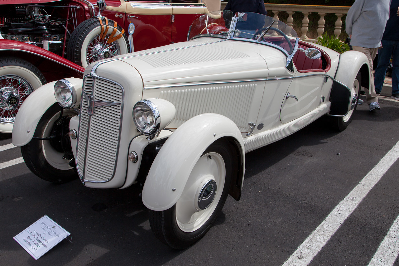 1935 Adler Trumpf Junior Sports Roadster, owned by Alexandra Geremia