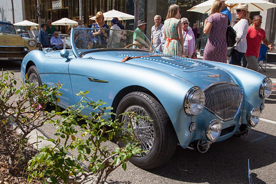 1956 Austin-Healey 100 Roadster BN2, owned by Bill Hoyt
