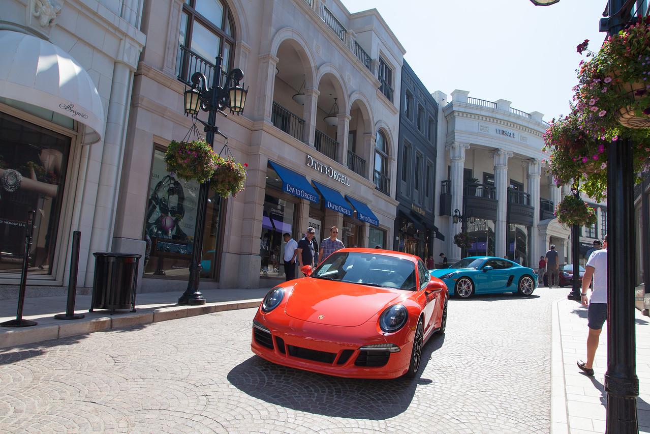 Porsches on Via Rodeo