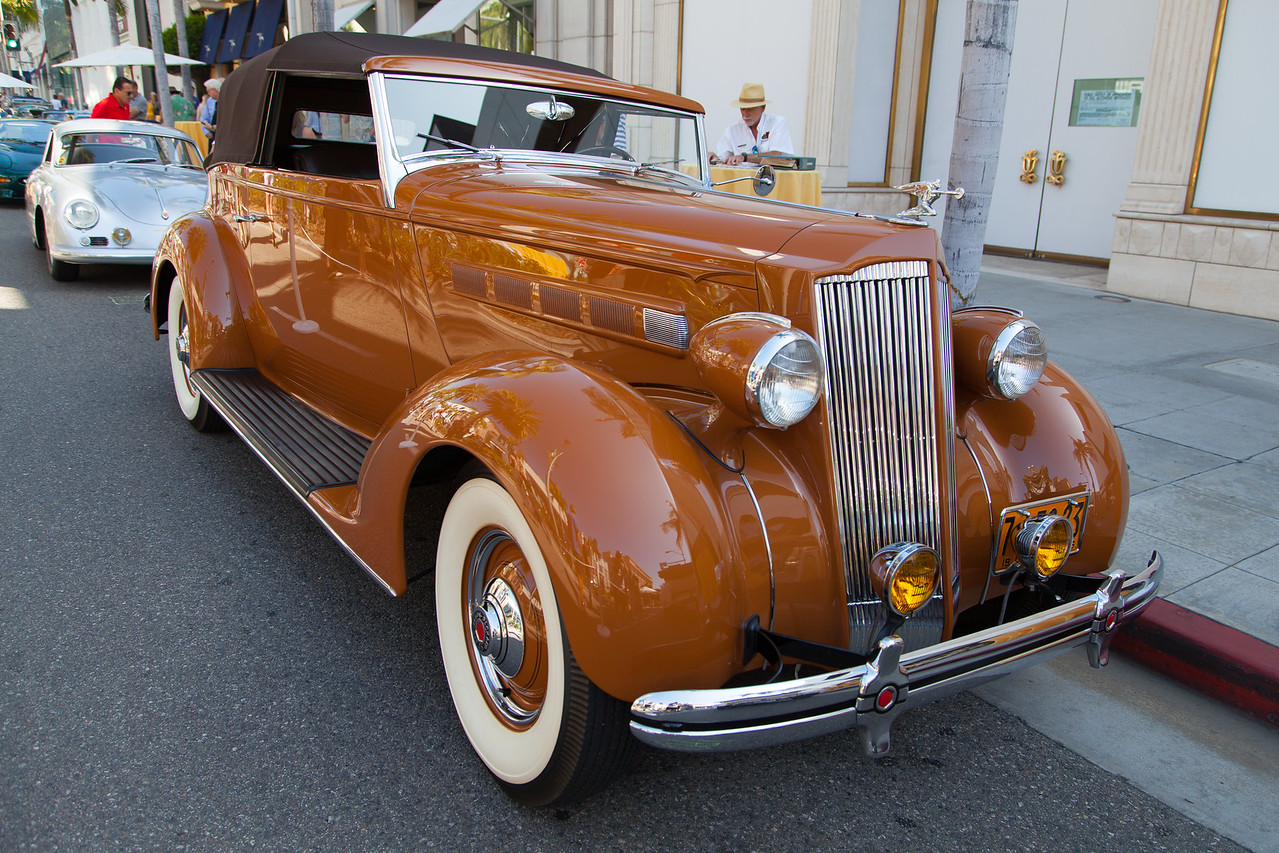 1936 Packard 120 Convertible Victoria by LeBaron, owned by Donnie Crevier