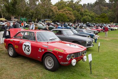 1973 Alfa Romeo GTV Group 1 FIA heads the row of Alfas
