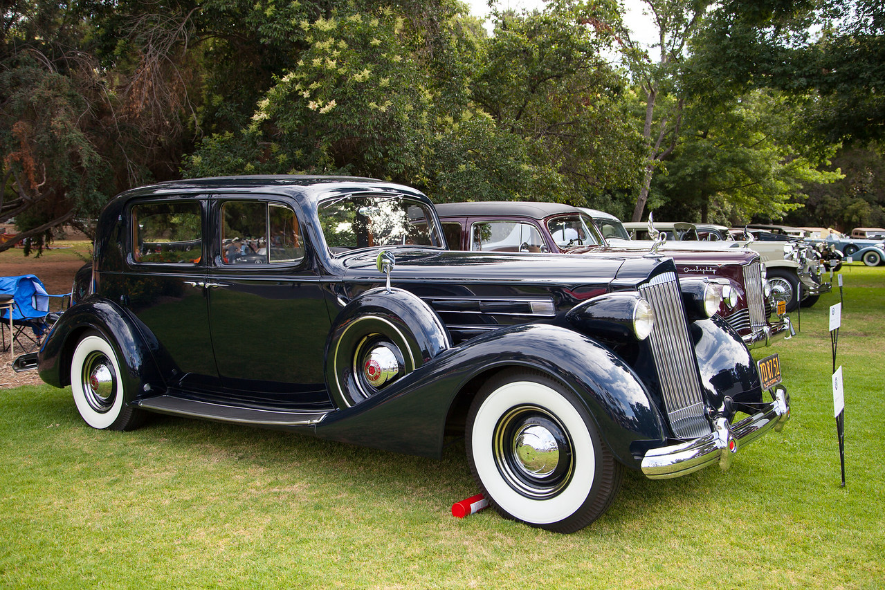 1937 Packard V12 Club Sedan, owned by Larry Symons