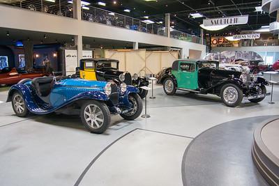 (L-R) 1932 Bugatti Type 55, 1931 Bugatti Type 50S