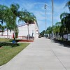 Date:  07/22/09<br /> Location:  Sarasota, FL<br /> Taken through the gate and looking down the walk way along the outside of the stadium (third base bleachers on the left and 12th street on the right on the other side of the fence)