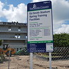 Date:  6/23/10<br /> Location:  Ed Smith Stadium, Sarasota, FL<br /> The front of the stadium and the sign signifying the work to be done and the end date which is 15 Feb 11