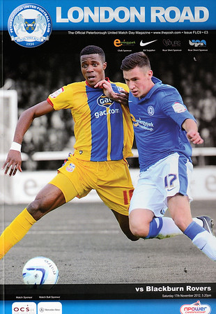 Peterborough United v Blackburn Rovers 17.11.12 (Front Page Photo: John Grant/Courtesy Peterborough United/JoeDent)