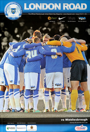 Peterborough United v Middlesborough 08.12.12 (Front Page Photo: John Grant/Courtesy Peterborough United/JoeDent)