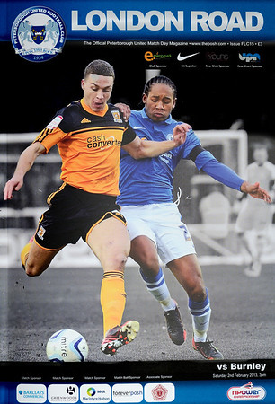 Peterborough United v Burnley 02.02.13 (Front Page Photo: John Grant/Courtesy Peterborough United/JoeDent)