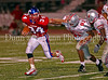 Senior running back Kale Gelles fends off Marcus senior defensive lineman Kyle Morales in the game between Grapevine and Marcus on September 7, 2007.