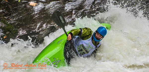 """""""Green River Race Narrows Extreme Wildwater Mayhem & Chaos Sequence - Drew Austell - overall final rank number 29 with a time of 04:51  - in a Dagger Green Boat Long K1 bracing within the """"Speed Trap"""" near the base of class 5+ Gorilla The Flume rapids within the Green River Narrows"""" (USA NC Saluda; Obst FAV Photos Nikon D800 Sports Fun Extraordinaire Action Outdoors Image 5145)"""