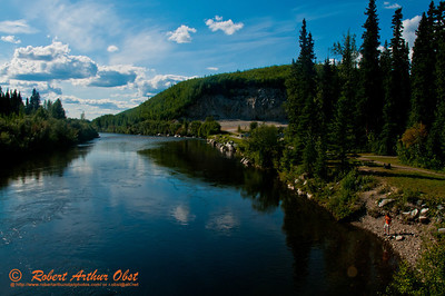 Campers and Canoeists and hikers will enjoy gorgeous views of the North Fork of the Chena River between Red Squirrel Campground and Chena Hot Springs within the Chena River State Recreation Area northeast of Fairbanks (USA Alaska Chena Hot Springs)