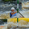 Photo collage of World Championships GOLD Medalist Kayak men Junior Miroslav URBAN of Slovakia positioning for gate 10 during the finals of the 2012 ICF Canoe Slalom Junior and U23 World Championships (USA WI Wausau)