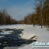 Cross country skiing over the ice and snow covered Sherry Rapids on Section 2 of the wild Wolf River (USA WI White Lake Langlade; Obst FAV Photos 2013 Nikon D800 Sports Fun Extraordinaire Action Outdoors Image 7634)