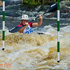 Kayak men Junior Daniel WATKINS of Australia positioning for gate 10 during the finals of the 2012 ICF Canoe Slalom Junior and U23 World Championships (USA WI Wausau)