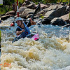 Photo collage of World Championships SILVER Medalist Kayak women Junior Karolina GALUSKOVA of the Czech Republic turning downstream after negotiating gate 12 during the semi-finals of the 2012 ICF Canoe Slalom Junior and U23 World Championships (USA WI Wausau)