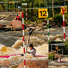 Photo collage of Kayak Women Junior from Poland Edyta Wegrzyn negotiating gates 10 through 12 during the semi-finals of the 2012 ICF Canoe Slalom Junior and U23 World Championships (USA WI Wausau)