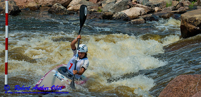 World Championships Gold Medalist Kayak Women Junior Jessica FOX of Australia positioning for upstream gate 12 during the finals of the 2012 ICF Canoe Slalom Junior and U23 World Championships (USA WI Wausau)