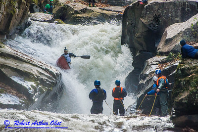 """Green River Race Narrows Extreme Wildwater - 1st place finisher in OC-1 or Open Decked Solo Canoe with a time of 07:32 - Nathan Zumwalt bib number O78 paddling his Dagger Prophet Long OC1 over class 5+ Gorilla-The Flume within the Green River Narrows"" (USA NC Saluda; Obst FAV Photos Nikon D800 Sports Fun Extraordinaire Action Outdoors Canoe Kayak Image 6474)"