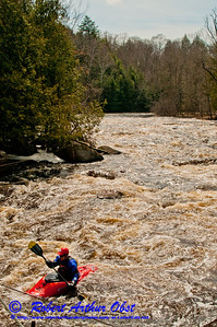 UW Madison Hoofers Outing Club Water Safety Board Chairperson Dan York kayaking through Boy Scout Rapids at 1400 CFS on Section 3 of the wild Wolf River within Langlade County (USA WI White Lake; Obst FAV Photos 2013 Nikon D300s Sports Fun Extraordinaire Image 5207)