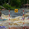 World Championships Silver Medalists Canoe Solo Men Team Juniors Samuel IBBOTSON and Thomas ABBOTT and Andrew HOUSTON of Great Britain negotiating gates 8 through 10 during the finals of the 2012 ICF Canoe Slalom Junior and U23 World Championships (USA WI Wausau)