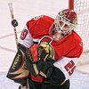 Ottawa Senators' Martin Gerber makes a save against the Florida Panthers during first period NHL action in Ottawa, February 14, 2007. Gerber had a shutout. Photo by Patrick Doyle.