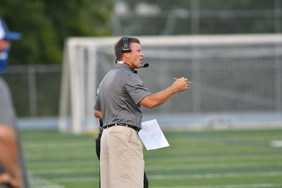 Rockhurst Football Coach Kelly Donohoe during 2020 football game
