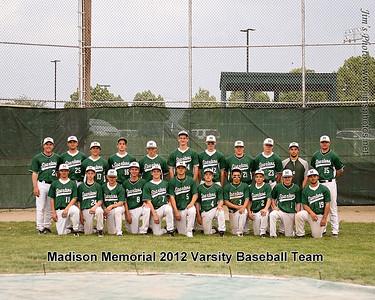 Madison Memorial Boys Baseball - May 24, 2012 Team Photos