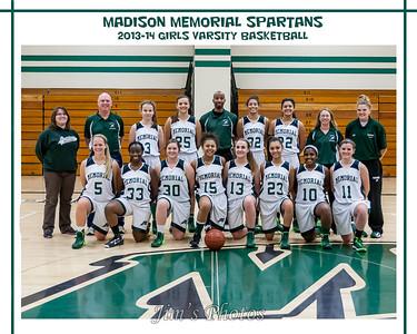 Madison Memorial Girls Basketball - 2013 Team Photos