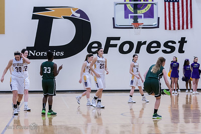HS Sports - DeForest Girls Basketball - Feb 17, 2015