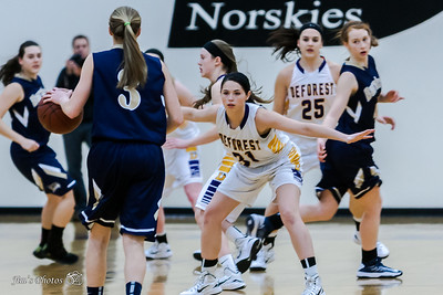 HS Sports - DeForest Girls Basketball - Feb 27, 2015
