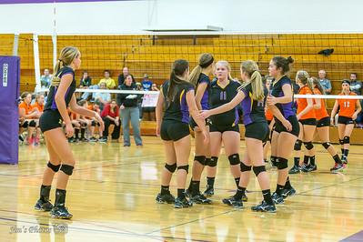 HS Sports - DeForest Girls Volleyball - Oct 01, 2015