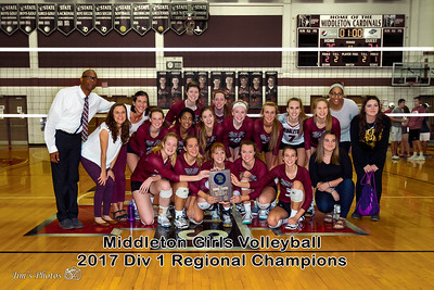 HS Sports - Middleton Girls Volleyball - Oct 21,  2017