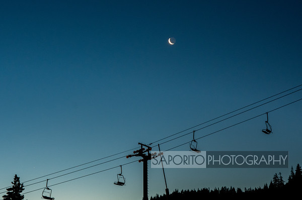 Moonrise over Squaw Valley