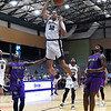 Enid Outlaws' Chance Comanche scores a dunk against the Waco Royals Sunday, May 2, 2021 at the Stride Bank Center. (Billy Hefton / Enid News & Eagle)