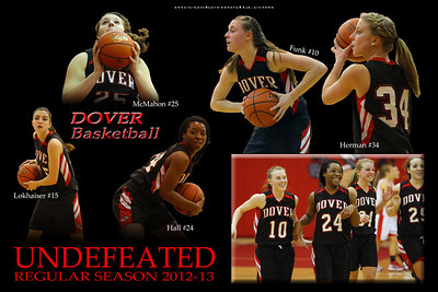 Congratulations to the Dover girls basketball team going undefeated in the 2012-13 regular season, winning 22 games.