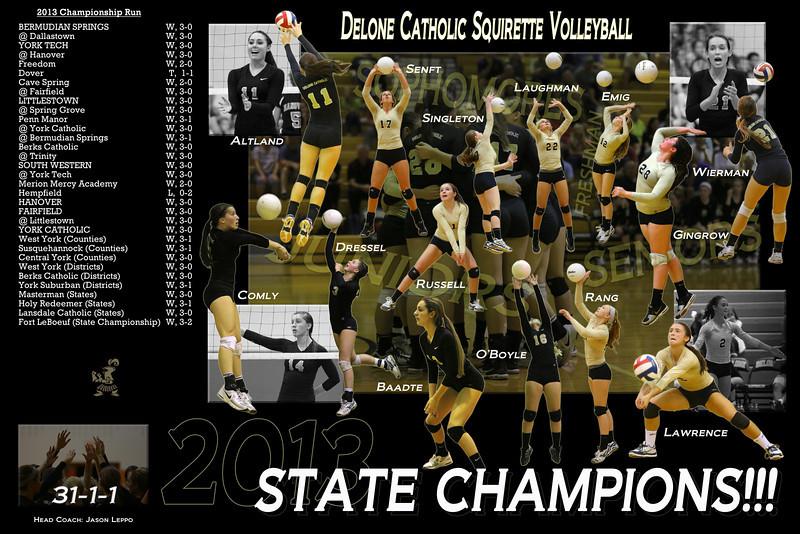 Delone Catholic Volleyball Championship Collage