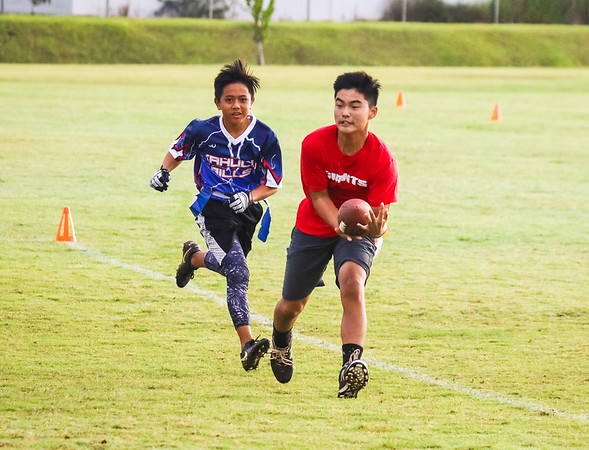 Maui Flag Football Bills vs Giants Bronco Division