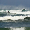 Surfing the effects of hurricane Irene at Pompano Beach