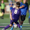 Carthage's Jesus Alvardo (18) tries to get past Monett's Joey Semerad (8) during their scrimmage at the Joplin Jamboree on Tuesday night at Joplin High School.<br /> Globe | Laurie Sisk