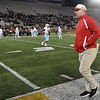 Webb City coach John Roderique walks the sidelines after the Cardinals Class 4 championship game in Columbia.<br /> Globe | Laurie Sisk