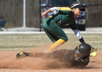 Missouri Western's Lauren Houston (6) slides safely into second base as Missouri Southern's Josie Tofpi (11) fields the throw during their game in the 15th Annual Teri Mathis Zenner Memorial Classic on Friday afternoon at Pat Lipira Field. Globe   Laurie Sisk