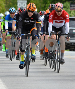 Photo by Albert J. Marro   Group of Men 4/5/ Master5 riders in close quarters during the Annual Killington Stage Race which was held over the Memorial Day weekend. Bikers from around the United State and Canada participated in the three-day event.