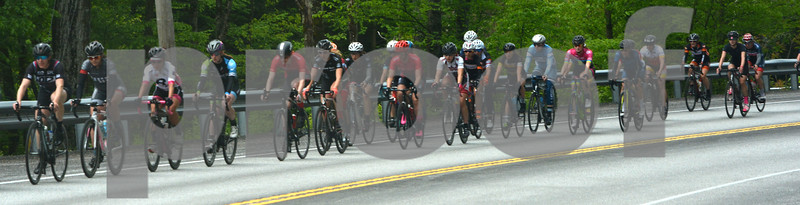 Photo by Albert J. Marro   Women 3/4/5 riders work their way east along US 4 in Bridgewater during the Annual Killington Stage Race which was held over the Memorial Day weekend. Bikers from around the United State and Canada participated in the three-day event.
