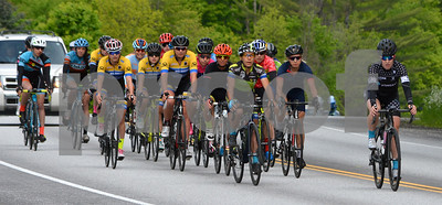 Photo by Albert J. Marro   A tght pack of Women P/1/2/3 riders cruising along during Saturday's portion of  the Annual Killington Stage Race which was held over the Memorial Day weekend. Bikers from around the United State and Canada participated in the threee-day event.