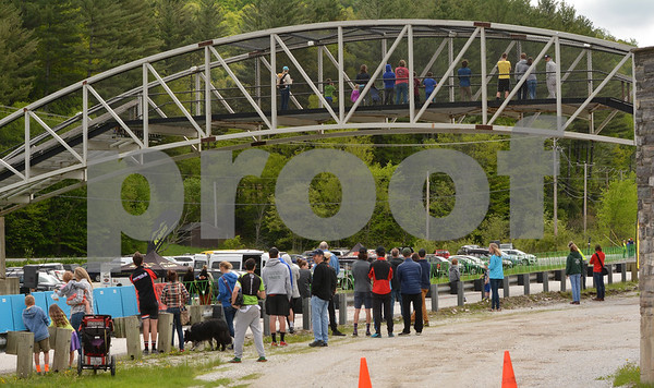 Photo by Albert J. Marro   Scene at the finsih line during Saturday's portion of the Annual Killington Stage Race which was held over the Memorial Day weekend. Bikers from around the United State and Canada participated in the three-day event.